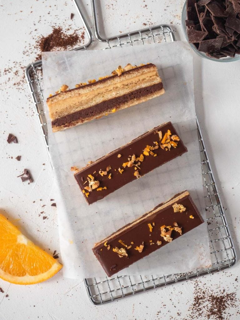 Chocolate orange and coffee cake