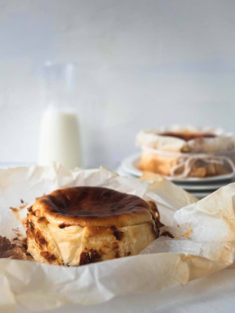 Smooth and creamy Mini Burnt Basque Cheesecake