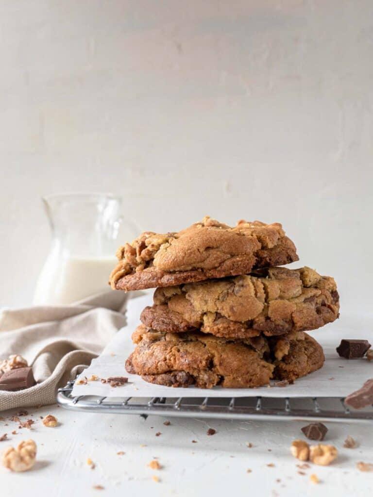 Levain Bakery milk chocolate and walnut cookies