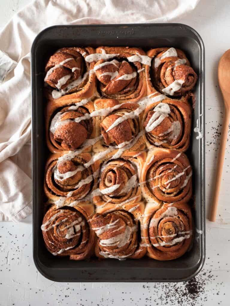Soft and fluffy earl grey tea cinnamon rolls