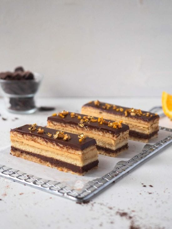 chocolate and orange opera cake