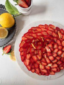Strawberry and Rhubarb Cream Cheese Tart