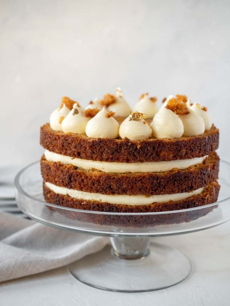 carrot pineapple cake light cream cheese frosting