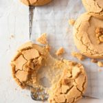 Peanut butter cookies filled with mochi