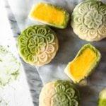 Matcha Coconut Custard Moon cakes