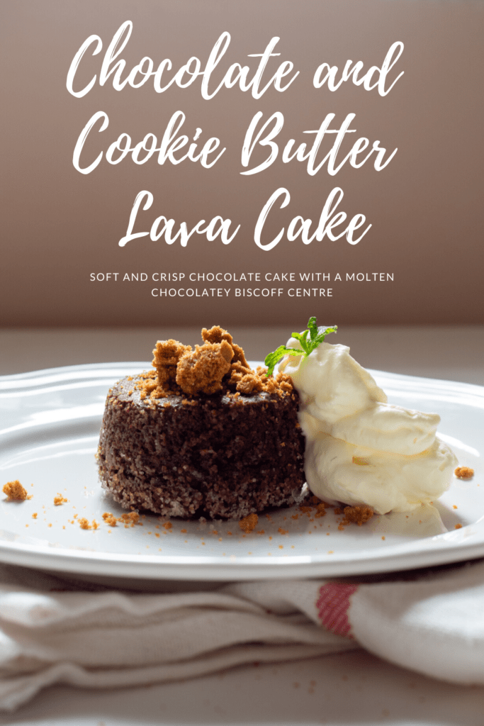 Chocolate and Cookie Butter Lava Cake