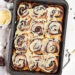 Hot chocolate sweet rolls with marshmallow cream cheese frosting