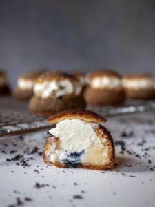 Black Sesame Cream Puffs