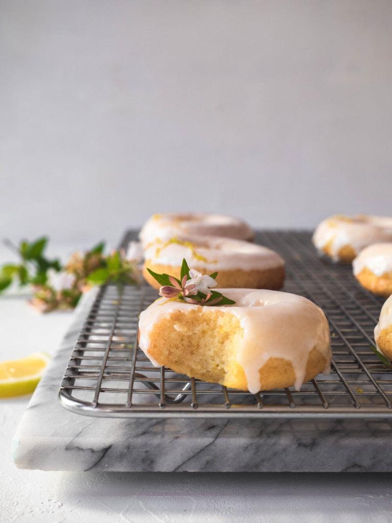 Zesty Lemon Baked Cake Donuts