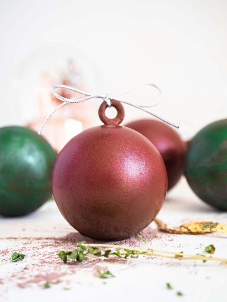 christmas bauble hot cocoa bombs