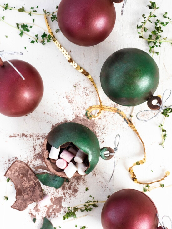 Christmas Bauble Hot Chocolate Bombs
