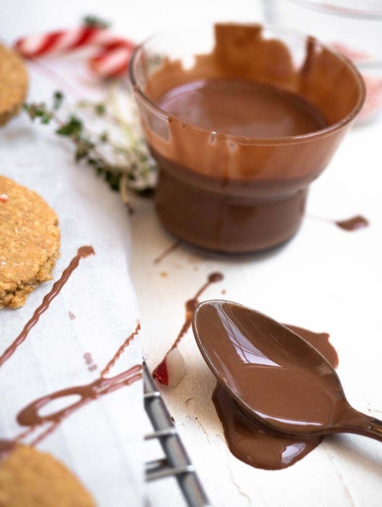 Peppermint chocolate dipped digestive biscuits