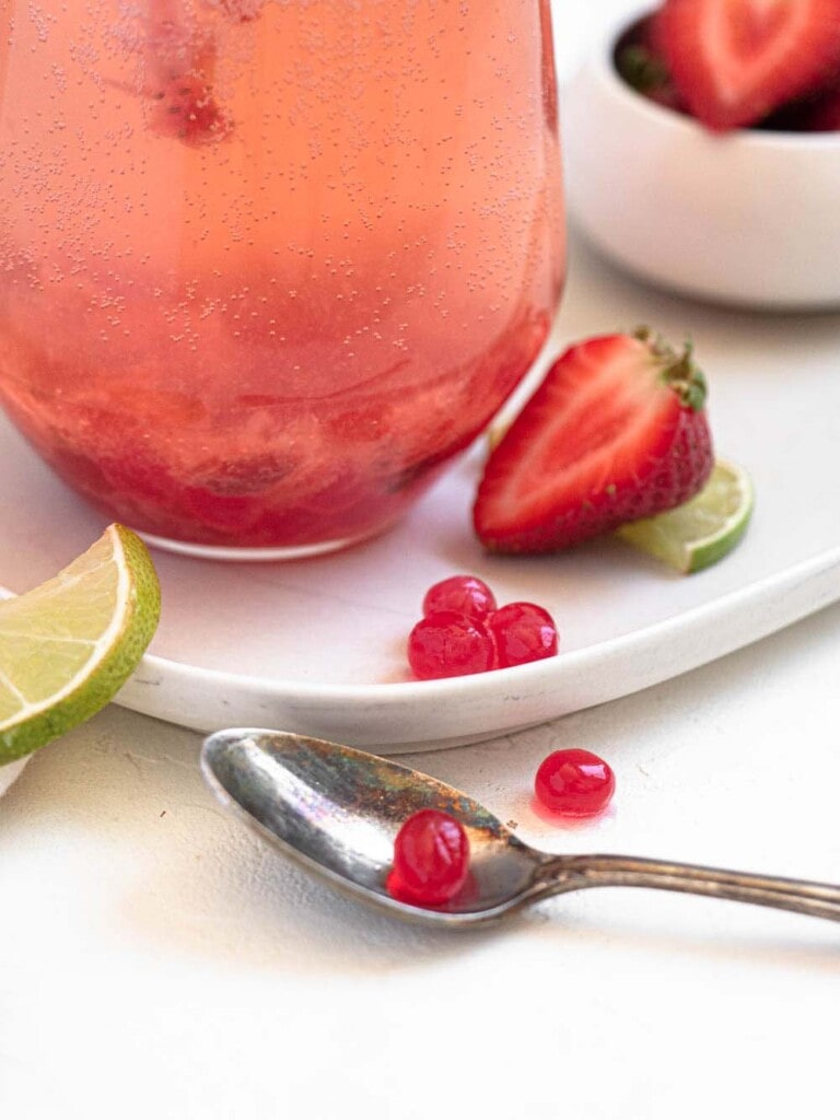 Strawberry and Lime Sparkling Boba
