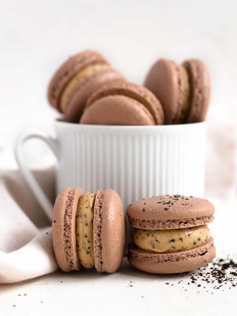 Earl Grey Buttercream filled French Macarons