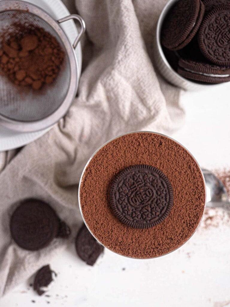 Oreo Frangelico Coffee Tiramisu with Mascarpone Cream