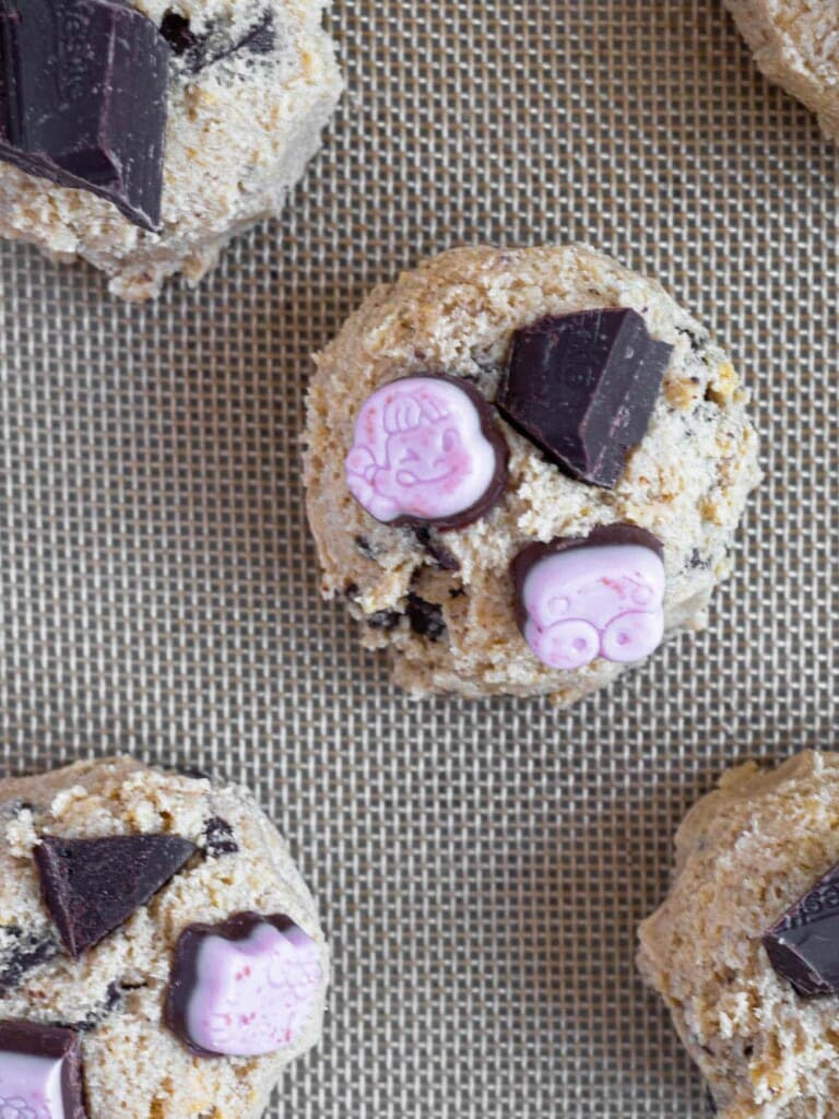 No-chill chocolate chunk cookies with japanese strawberry chocolate and pantry staples