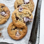 No-Chill Chocolate Chip cookies with Pantry chocolates