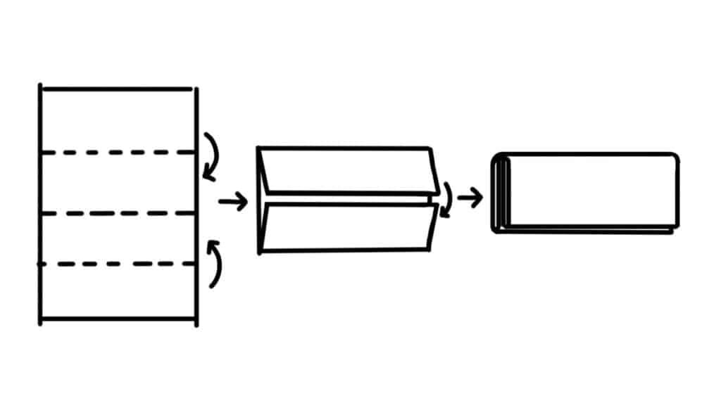 Double or book fold croissant folding technique