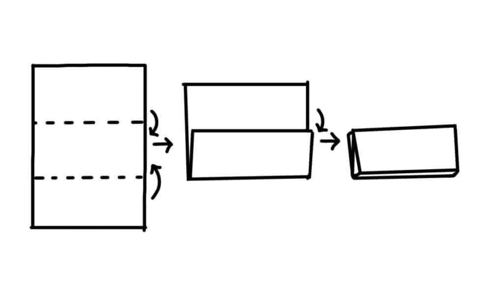 Simple fold croissant folding technique