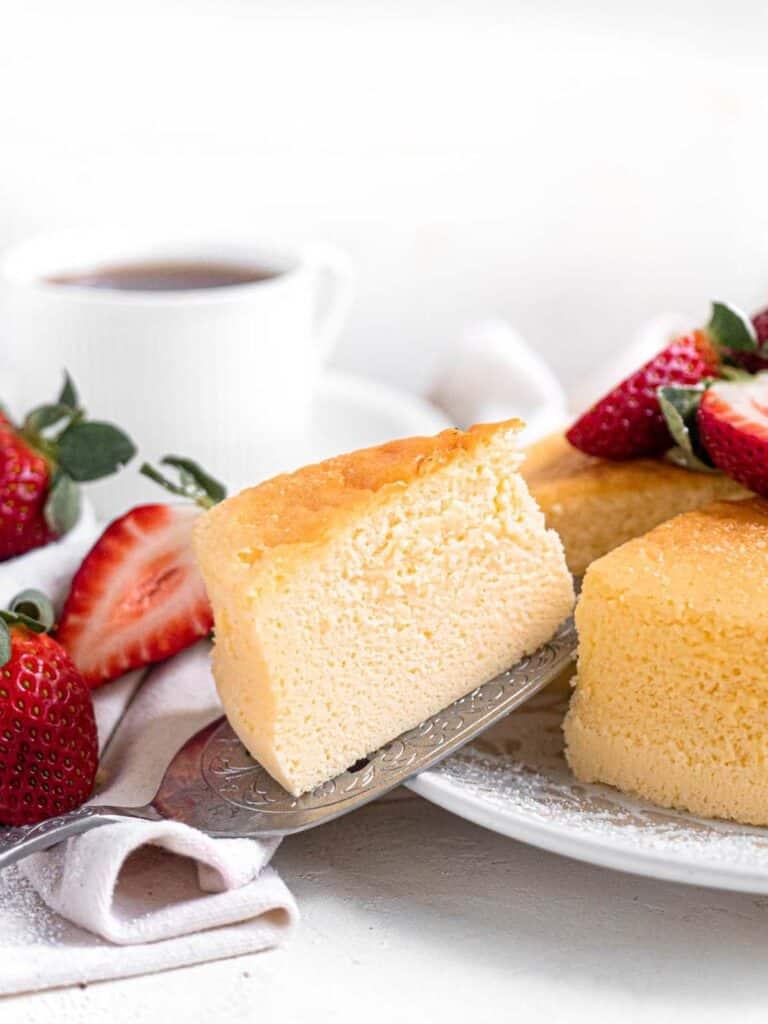 Light Japanese style cotton soft soufflé cheesecake