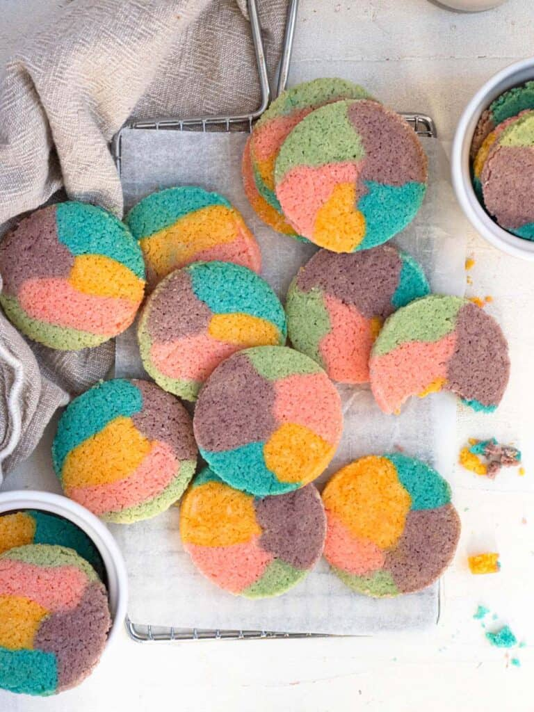 asy, short and buttery rainbow slice and bake cookies