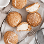 Cookie chox pastry filled with lightened custard pastry cream