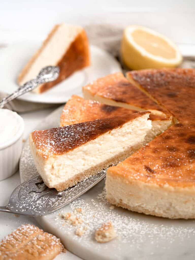 Classic rich and creamy New York style cheesecake